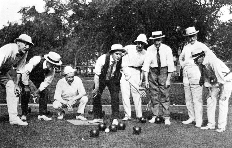 Lawn bowling at the Parade Grounds of Prospect Park, circa 1919