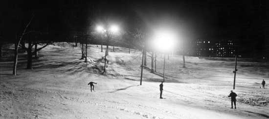 Night skiiing at Van Cortlandt Park -- New York City Parks Photo Archive