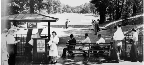 Newbold  Morris Golf Championship, Forest Park, Queens, Circa 1940, New York City Parks  Photo Archive