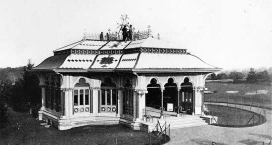 Mineral  Springs Pavilion, Central Park, Manhattan</em> ca. 1868,  Collection of Herbert Mitchell, Courtesy of Central Park Conservancy