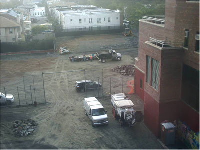 PS 205K before construction of playground