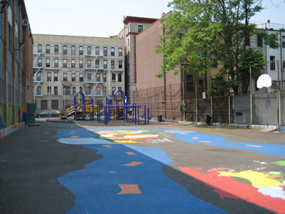 PS 76M before construction of playground