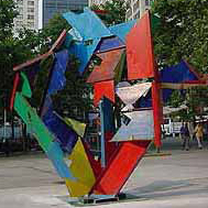 Michael Poast, Baroque Trajectory (Steel)