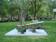 Richard Deacon, Free Assembly, 2008 (foreground), Other Assembly, 2008 (background). Courtesy of the Madison Square Park Conservancy.