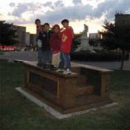 George Sanchez-Calderon, Plinth, Monument, Stoop