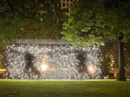 Jim Campbell, <em>Scattered Light</em>, courtesy of the Madison Square Park Conservancy and James Ewing