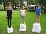 Miranda July, Pedestals for Guilty Ones. 2009, fiberglass composite panel, steel, urethane paint