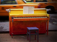 Sing for Hope's Pop-Up Pianos located at 88 locations citywide.