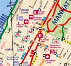 detail of a bike map