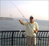 Fisherman on Midland Beach Pier, Staten Island