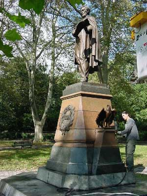 Photo of Abraham Lincoln monument in Prospect Park Brooklyn