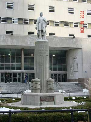Photo of the Christopher Columbus Statue in Columbus Park Brooklyn