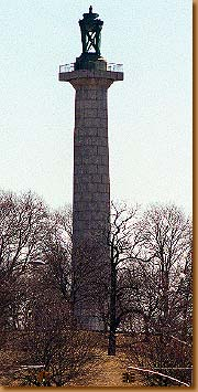 Photo of the Prison Ship Martyrs monument in Fort Greene Park Brooklyn
