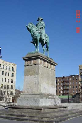 Photo of the Washington at Valley Forge Statue in Williamsburg Bridge Playground Brooklyn