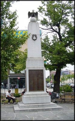 Photo of the Fort Hamilton War Memorial
