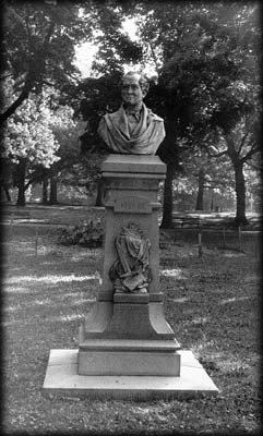 Photo of Thomas Moore statue in the Concert  Grove, Prospect Park