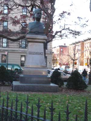 Photo of General Winfield Scott Hancock bust in Hancock Park