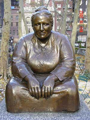 Photo of Gertrude Stein statue in Bryant Park