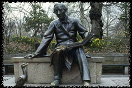 Photo of Hans Christian Andersen statue in Central Park