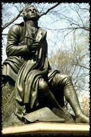 Photo of Robert Burns statue in Central Park