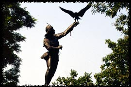 Photo of The Falconer statue in Central Park
