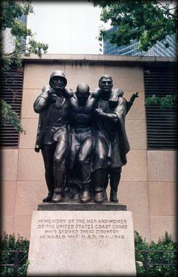 Photo of the Coast Guard Memorial in Battery Park