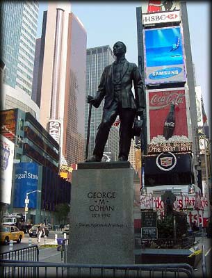 Photo of the George M. Cohan Statue in Duffy Square, Manhattan