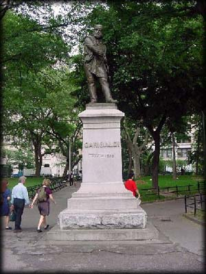 Photo of the Giuseppe Garibaldi Monument in Washington Square Park