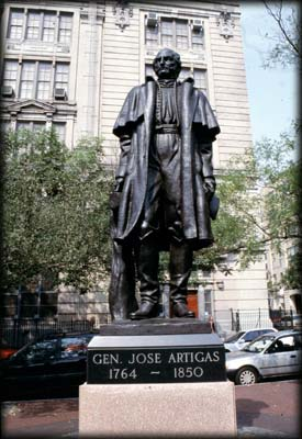 Photo of the General Jose Artigas Monument in Soho Square, Manhattan