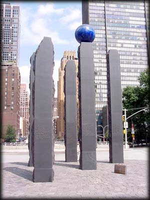 Photo of the Raoul Wallenberg Monument in Manhattan