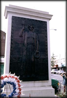 Photo of the Glendale War Memorial in Glendale Veterans Triangle, Queens