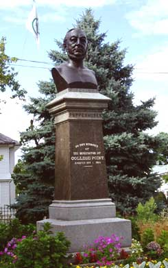 Photo of statue of Conrad Poppenhusen