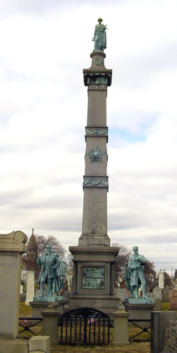Photo of the Soldiers Monument in Calvary Cemetary, Queens