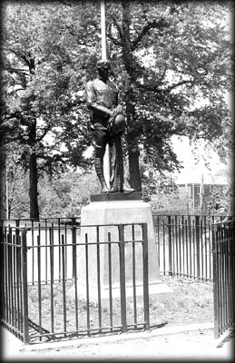 Photo of the Woodside Doughboy sculpture in Doughboy Park, Queens