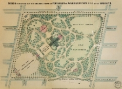 Detail of 1867 image of the future site of Prospect Park