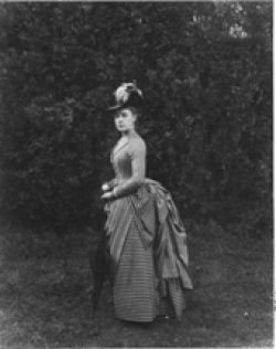 Detail of photo of Alice Austen in 1888