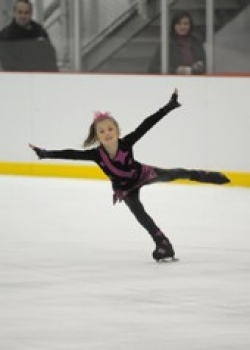 A young skater from the Ice Theater of New York performs at the opening of the World Ice Arena at Flushing Meadows Corona Park.