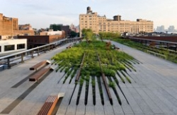 The view from atop the newly-opened first section of the High Line.