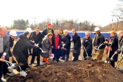 Breaking ground at Lakeside on Wednesday.
