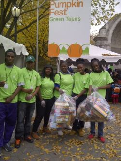 Members of Parks' Green Teens volunteered to compete in a recycling competition at PumpkinFest