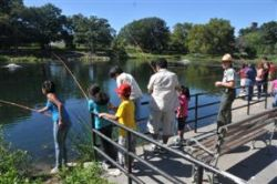 Fishing with the Urban Park Rangers at Crotona Park's Indian Lake