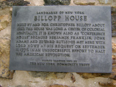 Conference House Landmarks Tablet
