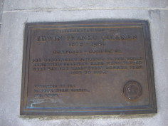 Plaque on exterior wall