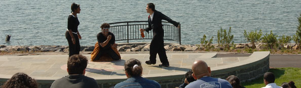 Theater performance at Barretto Point Park