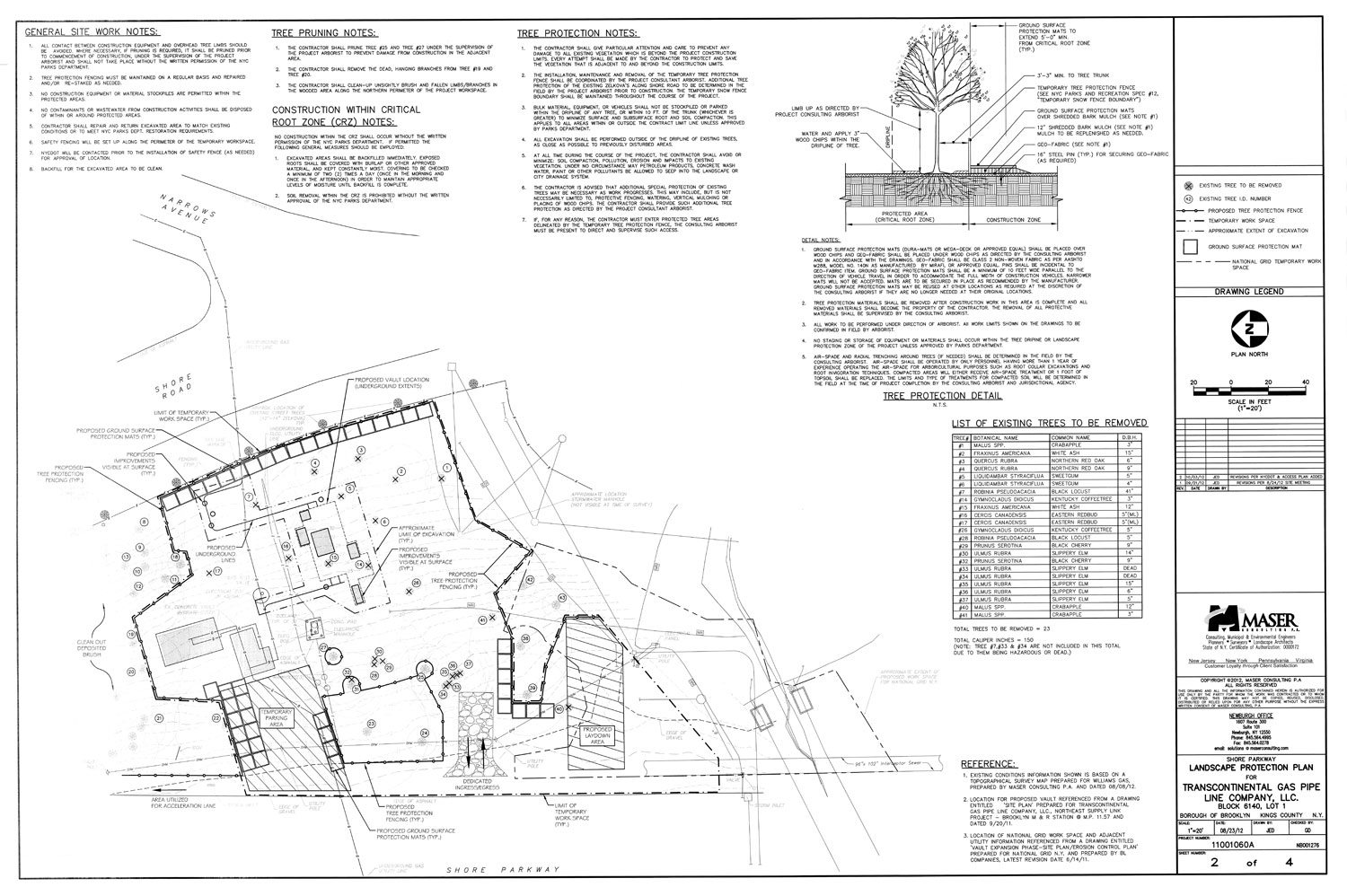 Construction Permits for Work on or Near Parkland NYC Parks – Sample Site Plan