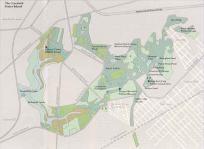 Map of Staten Island Greenbelt