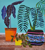 Nick Wildermuth, Floor Plants, 2017, acrylic on canvas, courtesy of the artist