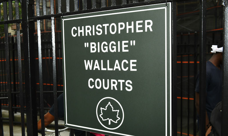 Christopher Biggie Wallace Courts sign
