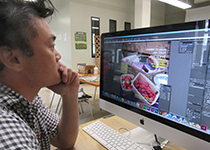 learning indesign at media lab