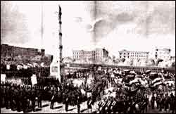 Photo of the Dedication of the Worth Memorial, November 25, 1857